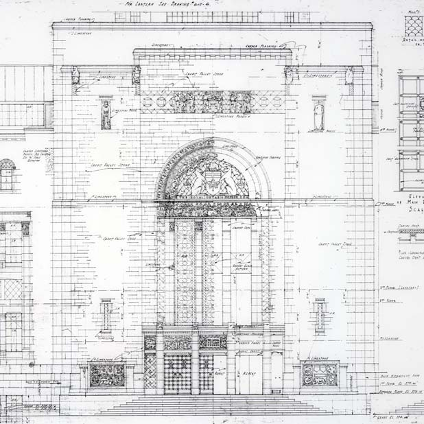 architectural drawing of facade