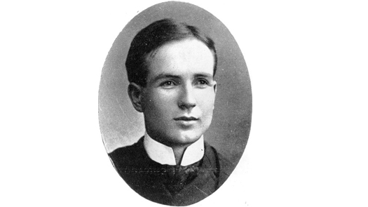 Currelly as a young man