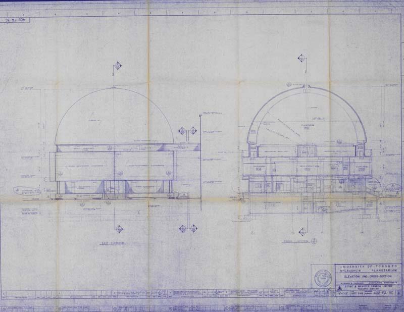 blueprints of planetarium