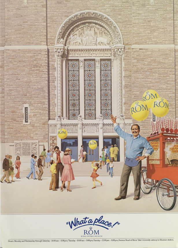man with popcorn cart poster
