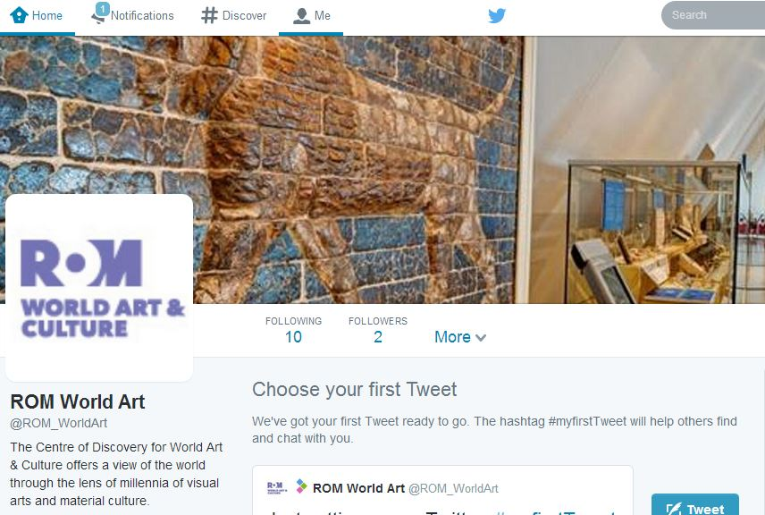 Image of World Art Social twitter account.