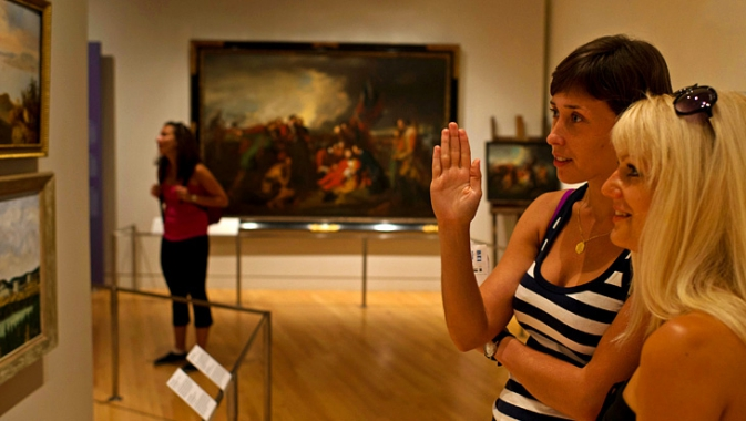 Explore Canadian history and identity through Canadian paintings and pictorial arts.