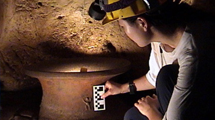 in situ artifact recording - Image by Holley Moyes