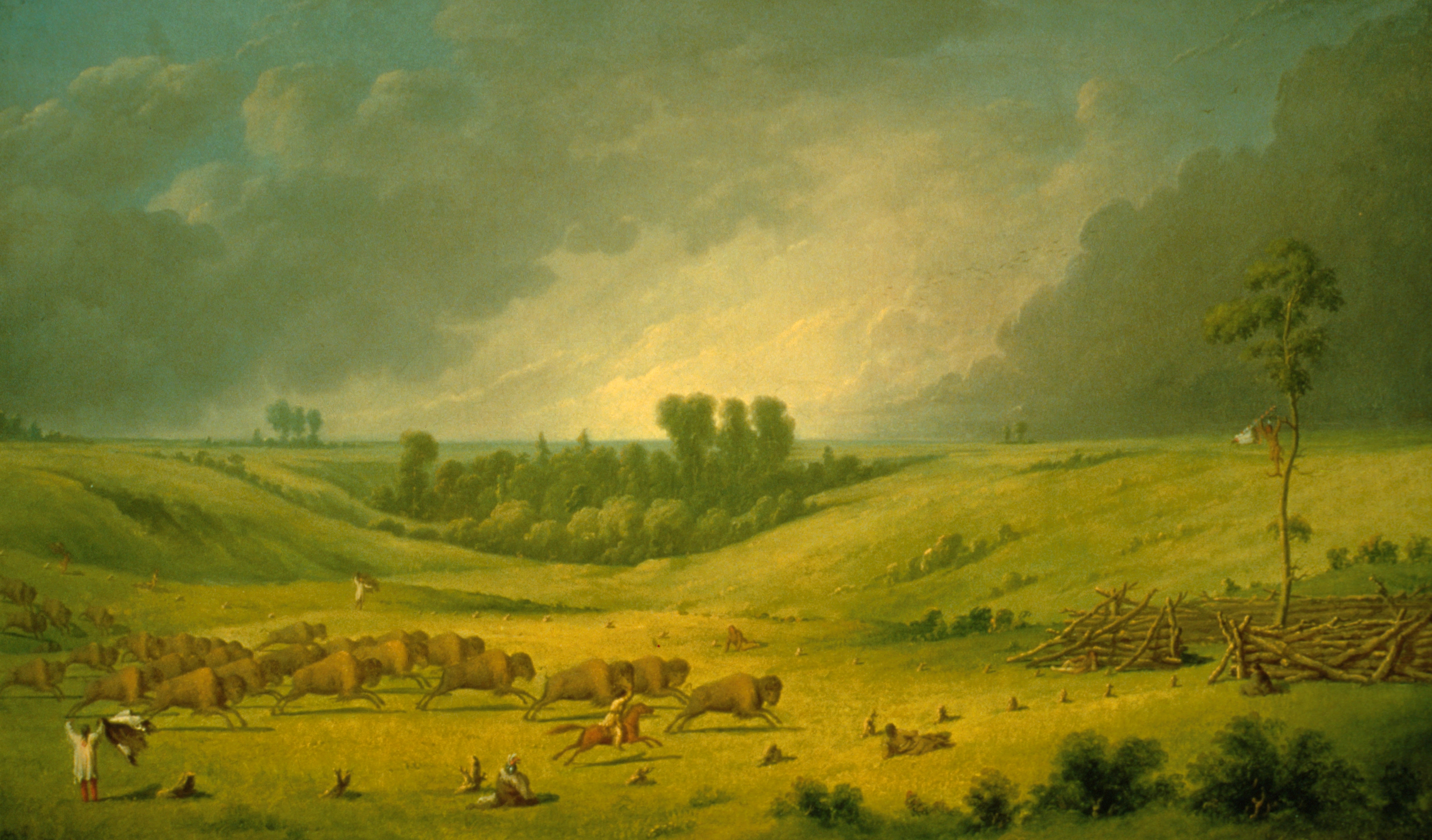 """A Buffalo Pound"" by Paul Kane, oil on canvas, 1849–1852.  912.1.33, Gift of Sir Edmund Osler"
