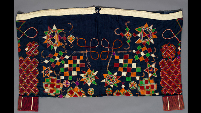 Image: Men's trousers. Cotton, wool. c. 1925 – 1950. Nigeria. Gift from the Estate of Rev. A.W. Banfield.