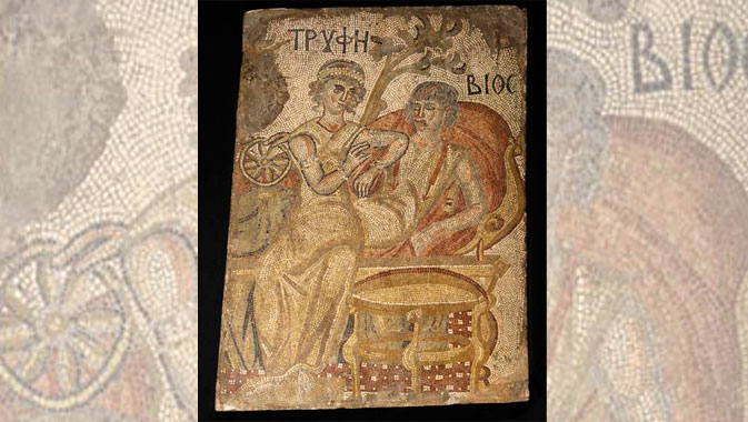 Magnificent floor mosaics demonstrate the Roman appreciation for extravagant living.