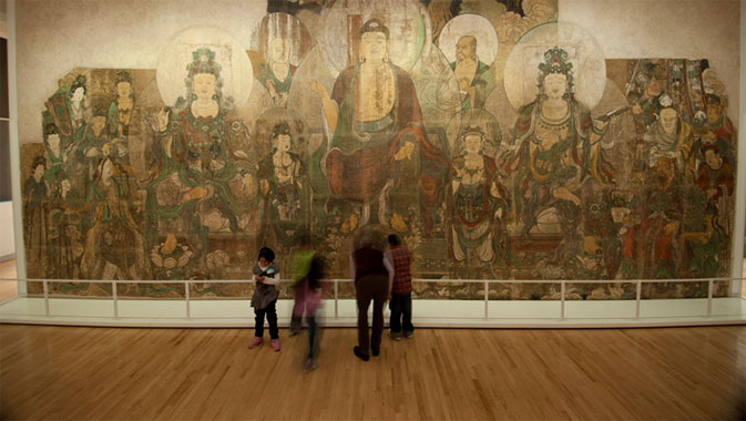 The Paradise of Maitreya dominates the gallery.