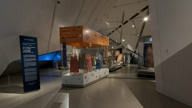 View inside the Patricia Harris Gallery of Textiles & Costume