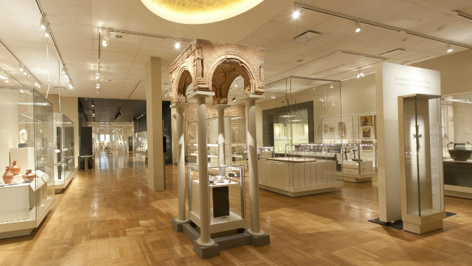 View inside the  Joey and Toby Tanenbaum Gallery of Rome and the Near East