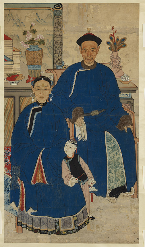 Ancestor Portrait of a Couple Qing dynasty Gift of Dr. Vivienne Poy