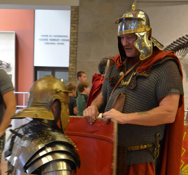 The average Roman soldier carried quite a load just in armour alone!