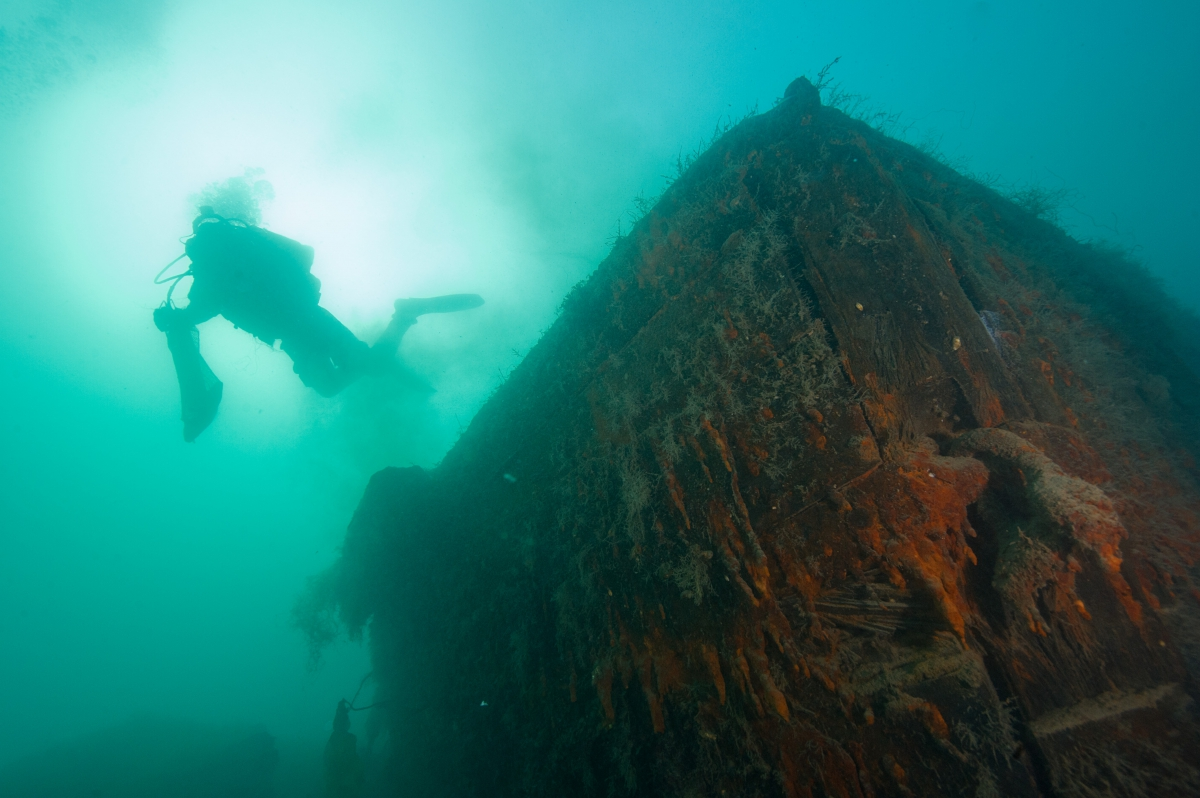 Parks Canada underwater archaeologist on HMS Investigator, lost in 1853 in the Arctic and discovered in 2010