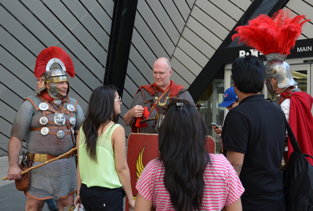Roman army re-enactors case a stir on Bloor Street