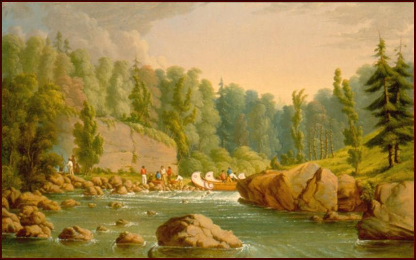 French River Rapids by Paul Kane, 1849–1856 Oil on canvas; ROM 912.1.2; Gift of Sir Edmund Osler