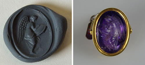 Impression of ring showing engraving.