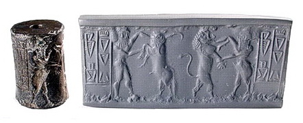 Cylinder seal with modern impression