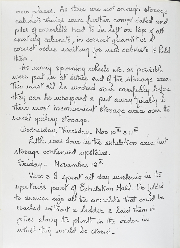 Facsimile of a page from Burnham's journal. See transcript below.