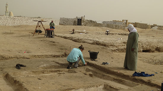 Archaeological team at work onsite.