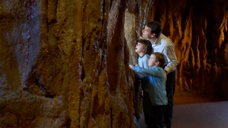 Family in the ROM Bat Cave
