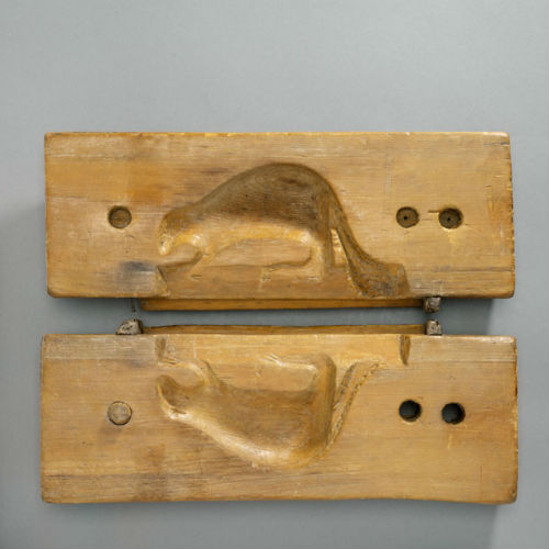 Maple Sugar Mould (Pine), Quebec, circa 1900. ROM2006_6480_2.jpg
