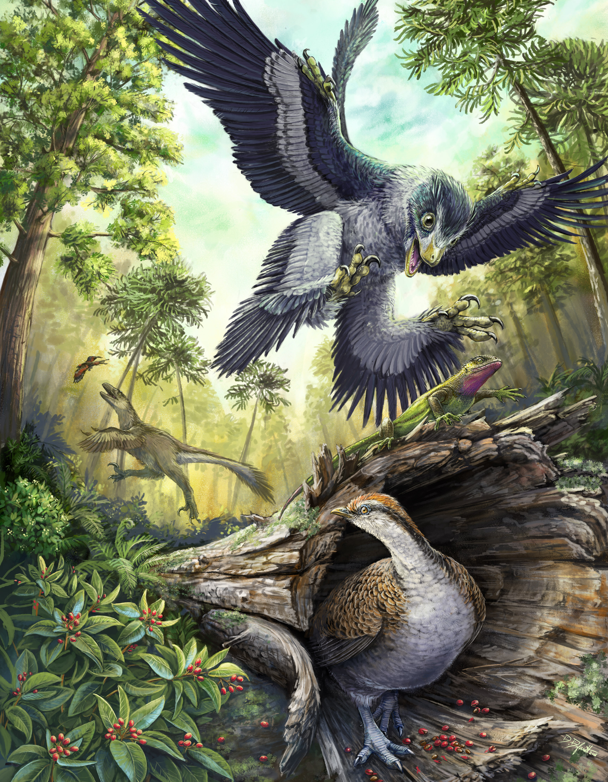 hellcreektheropods_ROM2016_15159_11 pieces of Paleoart that bring the past back to life!