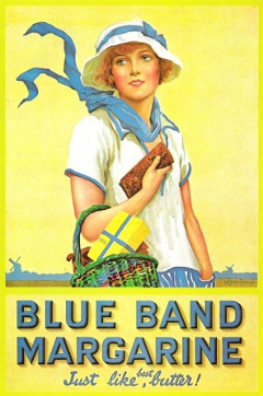 Ad for Blue Band Margarine - note the absence of any mention about whale products.