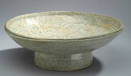 Porcelain bowl with cobalt blue decoration under a transparent glaze.   1998 Kim Jeong-ok (1941–)   999.15.1    Gift of the artist