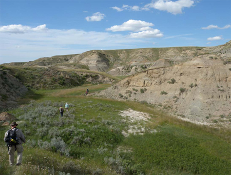 Prospecting in the badlands