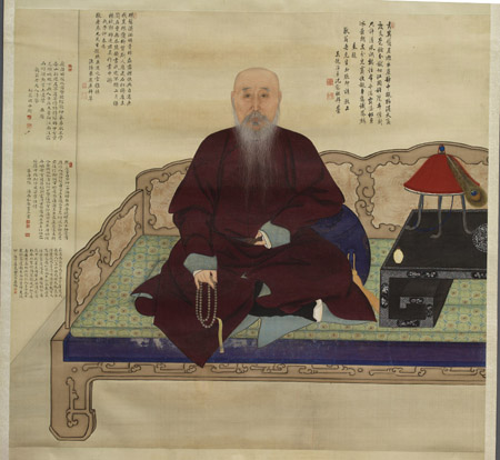 Portrait of the elderly Master Jing