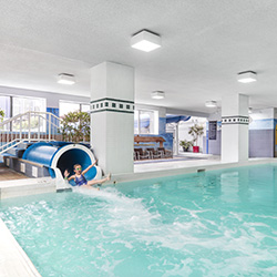 The Chelsea Hotel Family Fun Zone includes a pool with slide.
