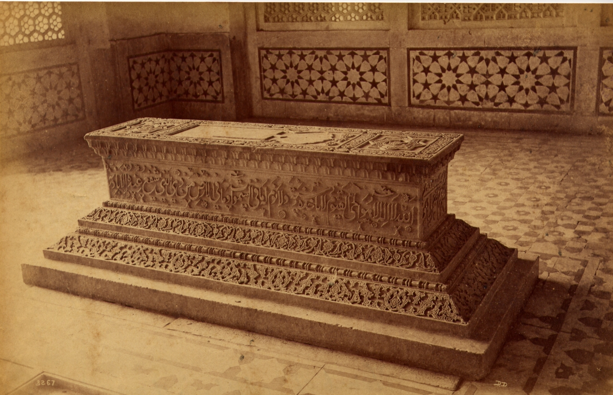 Tomb of Akbar's Daughter, Secundra [Sikandra], 1886-1887, Abumen print,