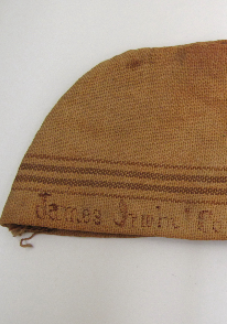 Detail from a flour sack hat