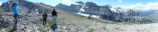 Helicopter-based field exploration in northern Kootenay National Park