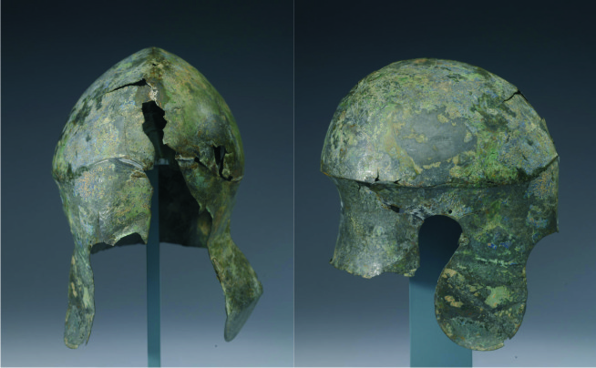 The Nugent Thermopylae helmet