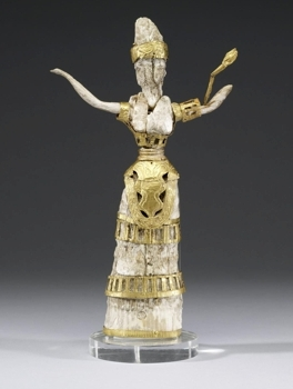 Chryselephantine figurine of a Snake Goddess, (c) Walters Art Museum, Baltimore