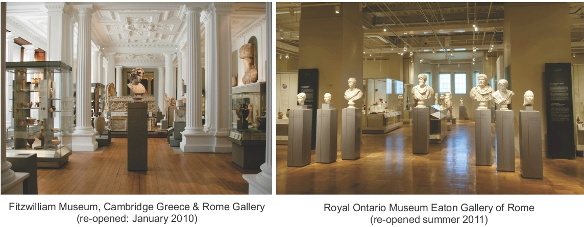 New antiquities galleries at the Fitzwilliam Museum and the Royal Ontario Museum