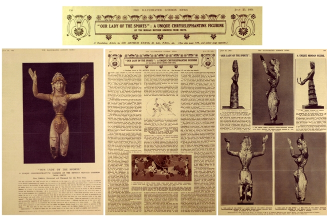 The ROM figurine's public debut in the Illustrated London News, July 1931