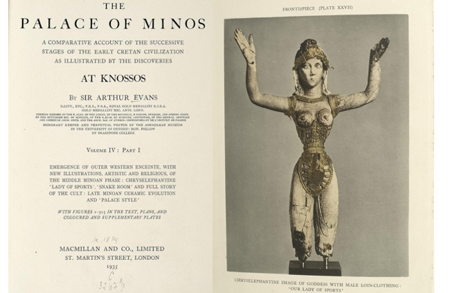 Frontispiece of volume 4.1 of 'The Palace of Minos' by Sir Arthur Evans (1935)