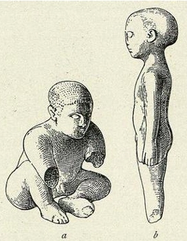 Ivory boys from Palaikastro, Evans Palace of Minos vol. 3 (1930)