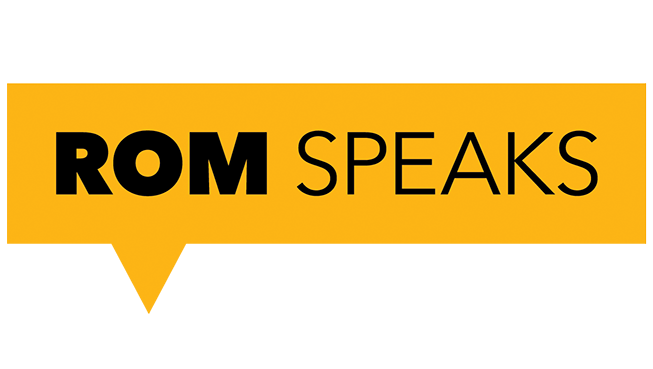 ROM Speaks logo
