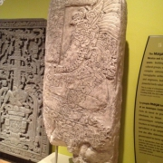 Reproduction of Stela 9 from Lamanai, Belize