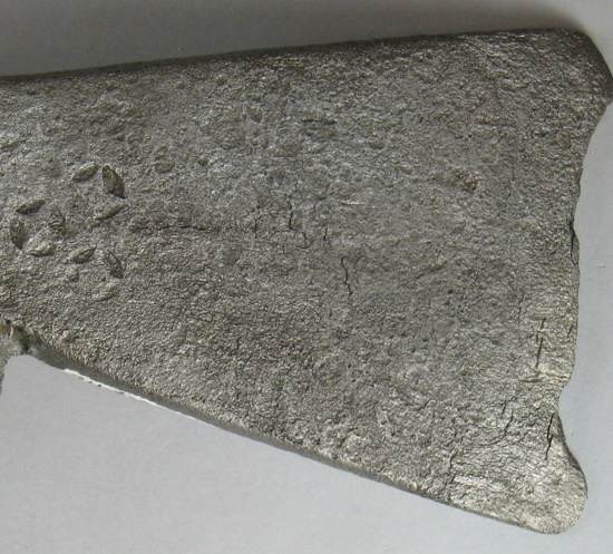 a grey axe head