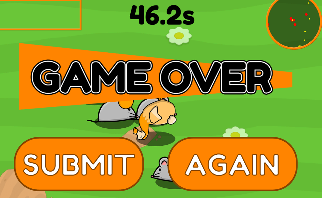 Dodo A Gogo game over screen