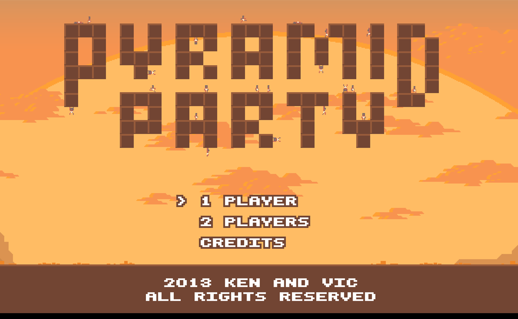Pyramid Party start screen