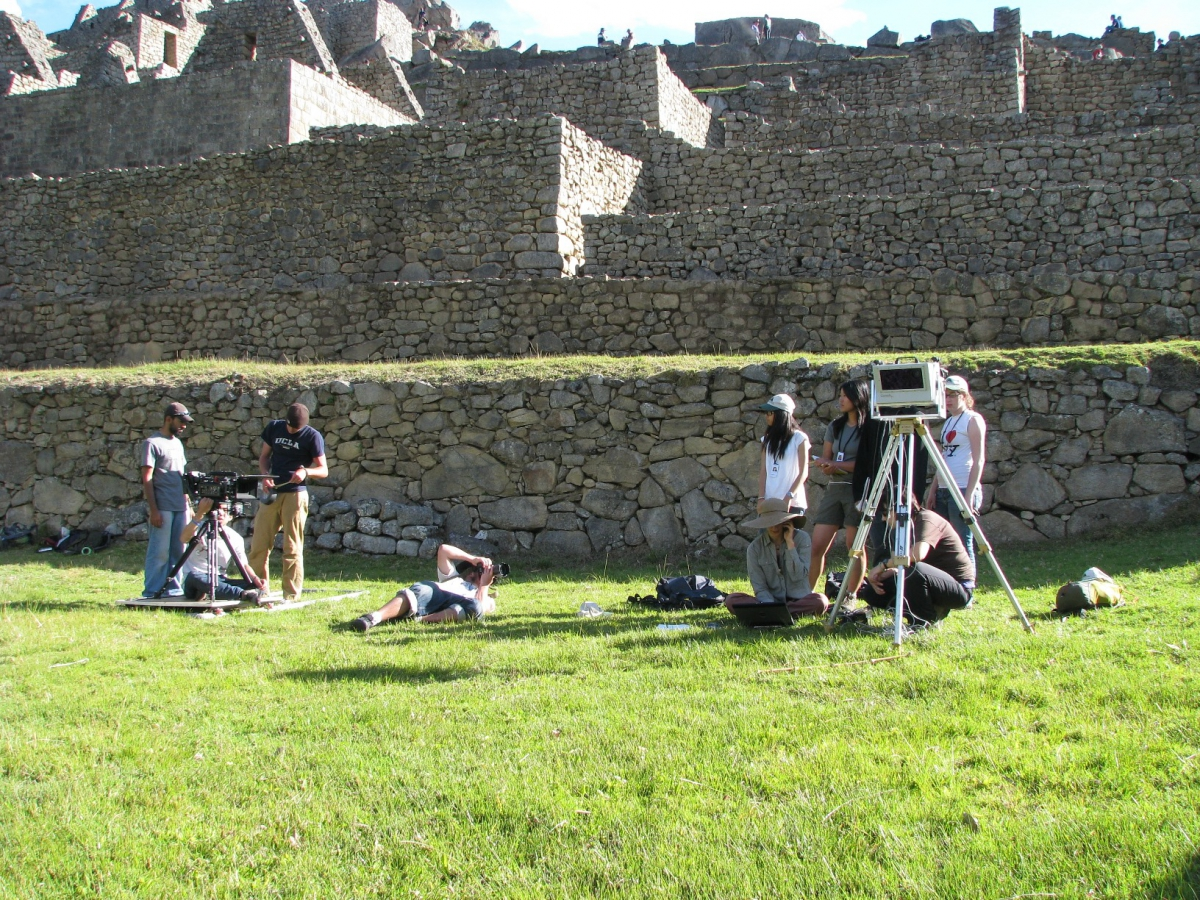Capturing digital data at the Inca site of Machu Picchu, Peru