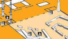 Illustrated floor plan of the ROM