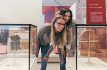 Visitors explore the ROM