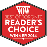 NOW Best of Toronto Reader's Choice Winner 2014