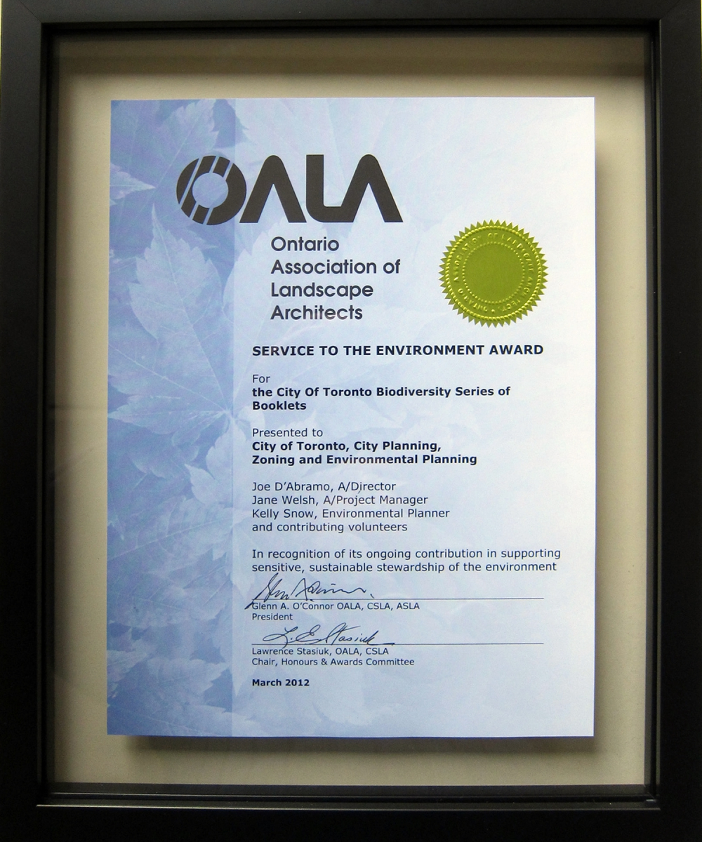 OALA Service to the Envirnoment Award
