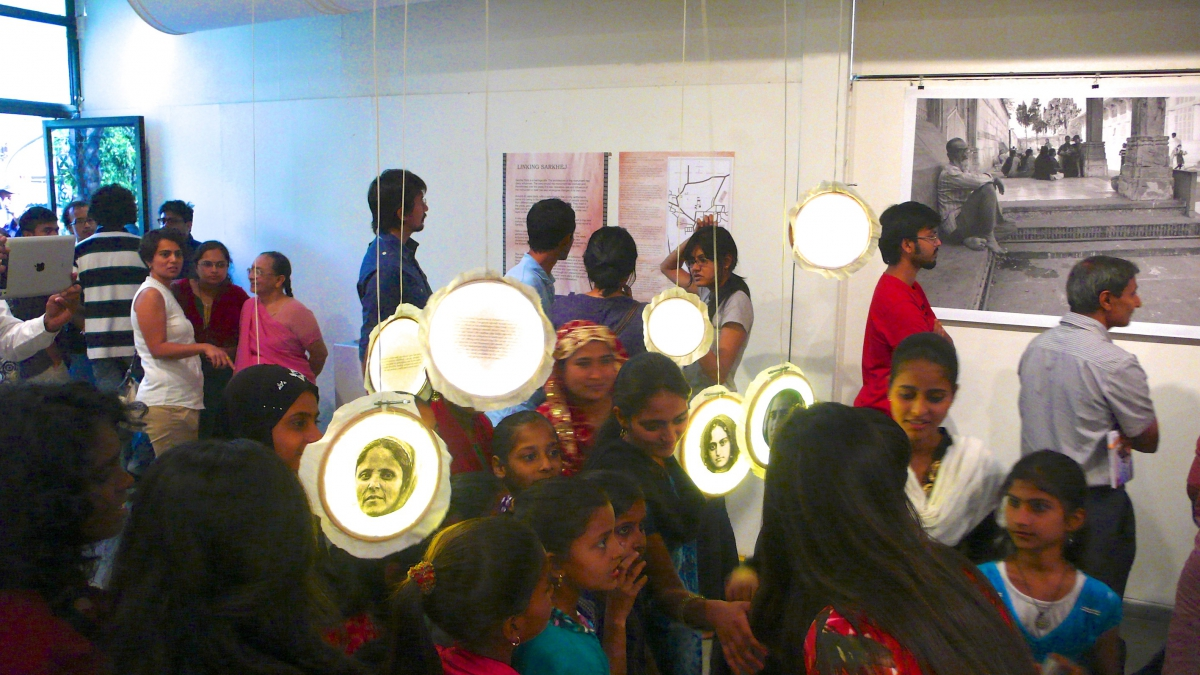 """Linking Sarkej"" exhibition at the National Institute of Design (NID) in Ahmedabad, India."